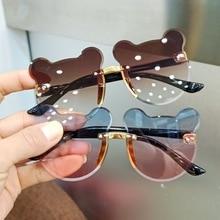 Fashion Baby Sunglasses Glasses Trendy Girls Boys Cute Cartoon Bear Sunglasses Anti-glare Anti-radia