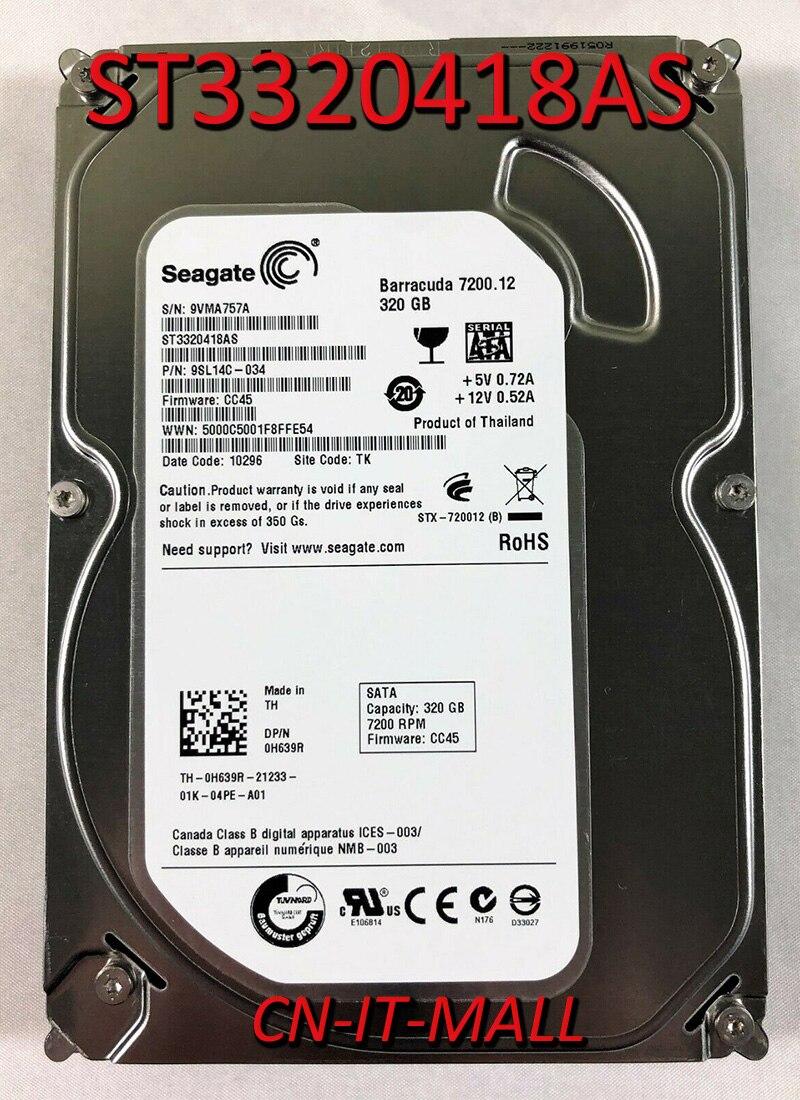 "Seagate barracuda 7200.12 st3320418as 320 gb 7200 rpm 16 mb cache sata 3.0 gb/s 3.5 ""disco rígido interno"