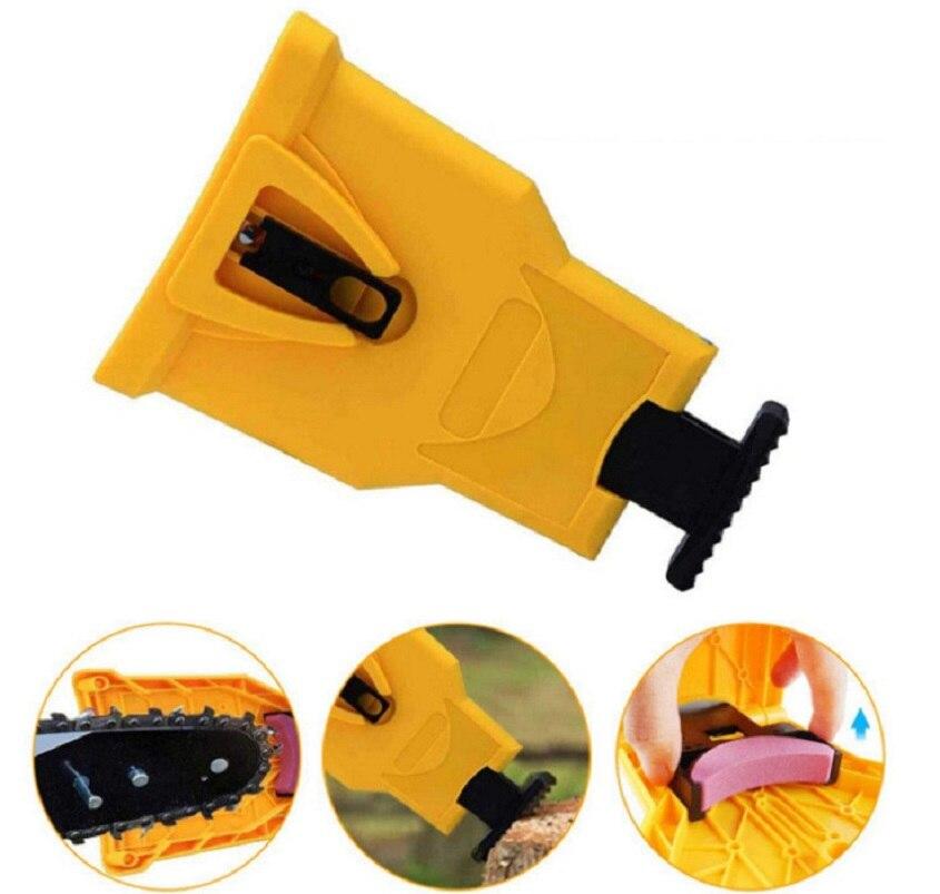 Serra de corrente dentes sharpener portátil durável fácil potência afiada barra-montagem rápida moagem motosserra ferramenta moedor de apontador de corrente