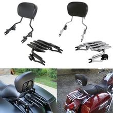 Porte-bagages de barre pour moto   Dossier détachable, pour Harley Touring Road King Electra Street Glide CVO, personnalisé 2009-2019