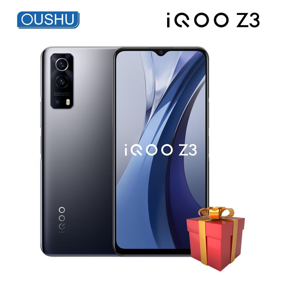 Перейти на Алиэкспресс и купить Оригинальный Новый 5G IQOO Z3 мобильный телефон Snapdragon 768G 4400 мА/ч, 55 Вт, мгновенная Зарядка для сотового телефона 6,58 ''120 Гц гоночный Экран 64MP смарт...