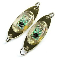 Лампа-вспышка 6 см/2,4 дюйма светодиодный подводный светильник с глубокими каплями в форме глаз для рыбной ловли кальмаров, светильник-приманка, светильник-вспышка, лампа, звуковой эффект