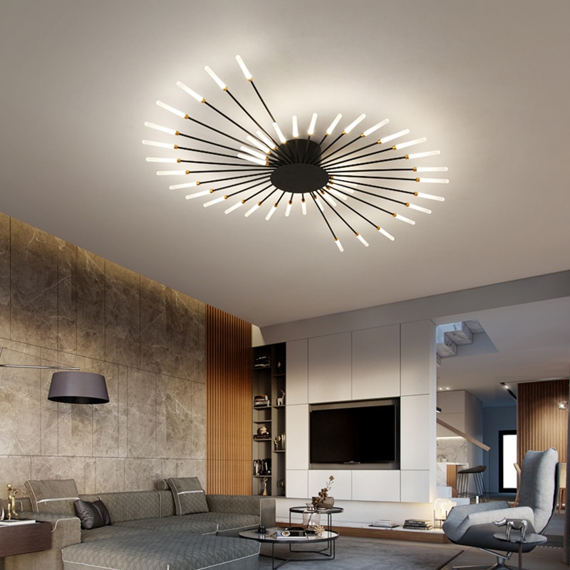 Hot sale fireworks led Chandelier For Living Room Bedroom Home chandelier Modern Led Ceiling Chandel
