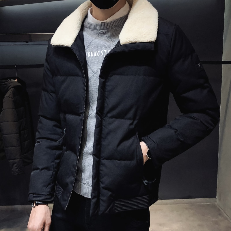 new mens winter cotton padded long coat black hooded parka thick warm casual plus size m xxxxxl u73 New Mens Winter Parka Coat Warm Thick Silk-like Cotton Padded Outwear Big Size M-8XL T180