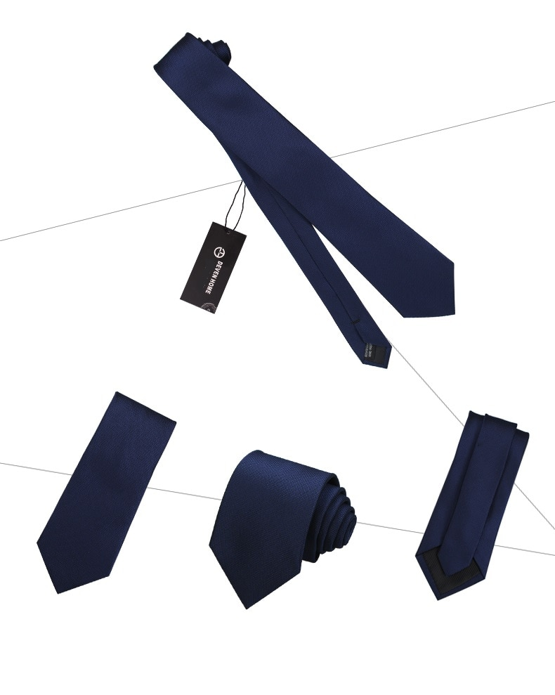 High Quality 2020 Designer New Fashion Black Navy Blue Plaid 8cm Ties for Men Necktie Work Business Formal Suit with Gift Box