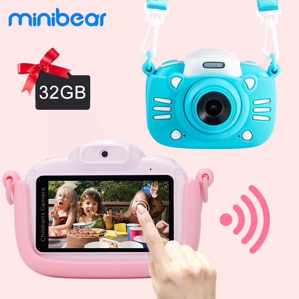 Minibear-كاميرا رقمية للأطفال ، 1080 بكسل ، 4K ، HD ، لعبة ، هدية عيد ميلاد