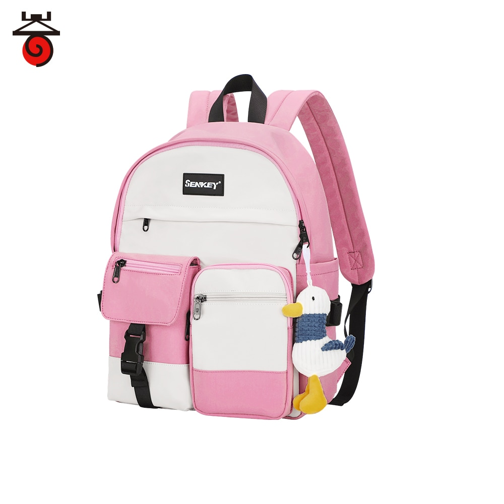 New Women Nylon Waterproof Backpack Shoulder School Bags for Teenage Girs Female Bagpack Travel Back