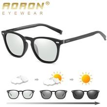 AORON Polarized Photochromic Sunglasses Men/Women Fashion Classic Round Sun Glasses TR Frame Aluminu