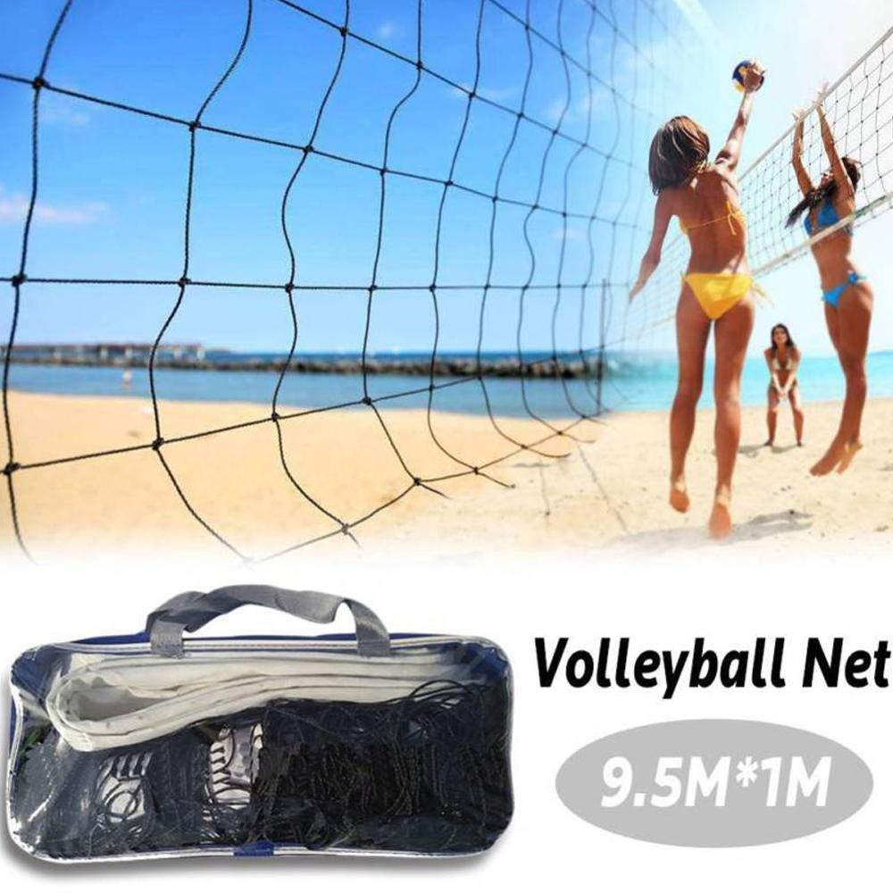 1PC 9.5x1m Portable Badminton Volleyball Net Indoor Or Outdoor For Beach Volleyball Net Training Exe