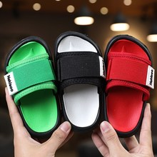 2021 Summer New Canvas Sandals Boys Girls Sandals Solid Color Soft Soled Anti-Slip Children Kids Sho
