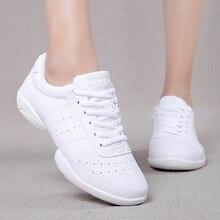 Non-slip Girls Athletics Aerobics Shoes Children Fitness Training Cheerleading Gym Sneakers Women So