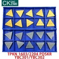 tpkn1603pdskr tpkn2204pdskr ybc301 ybc302 carbide milling turning triangle inserts cnc tools tpkr 1603 2204 for milling steel