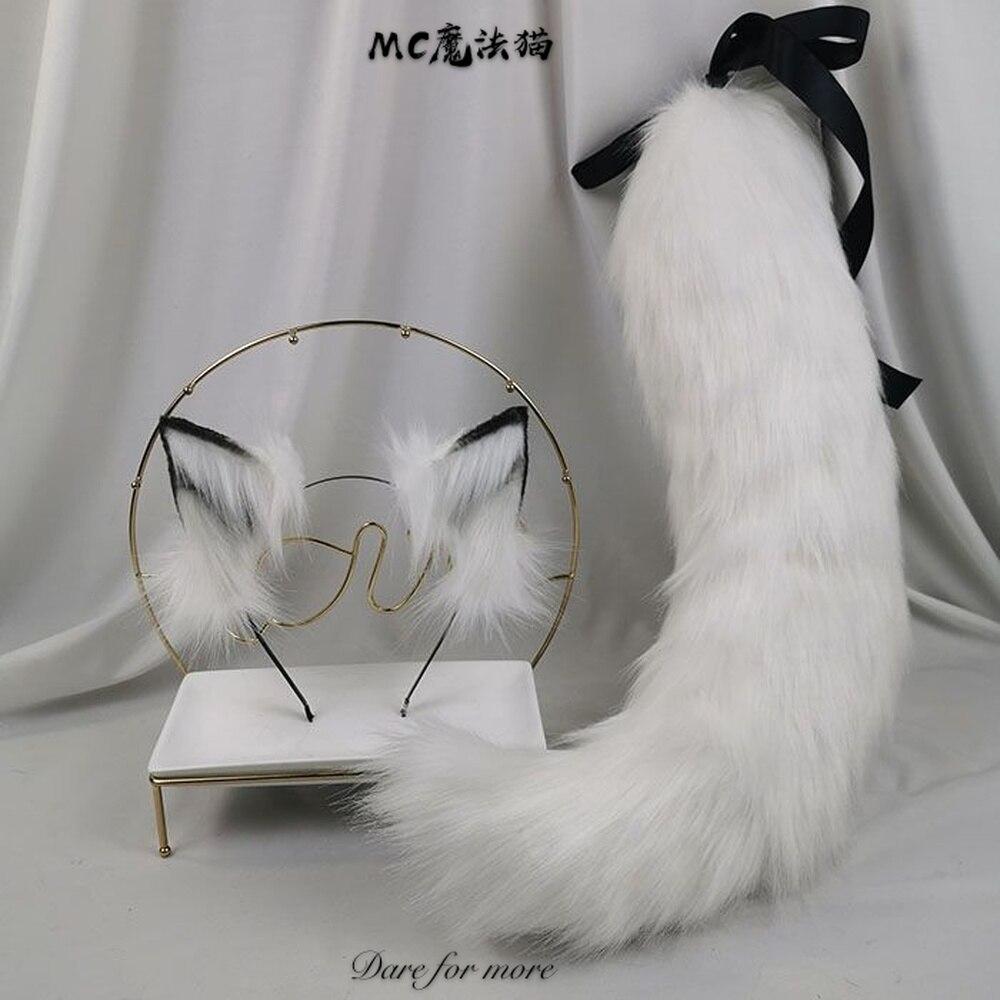 الثعلب الأبيض لوليتا الأذن محاكاة الحيوان الذيل عقال تأثيري الدعائم مثير الحلو لوليتا K04