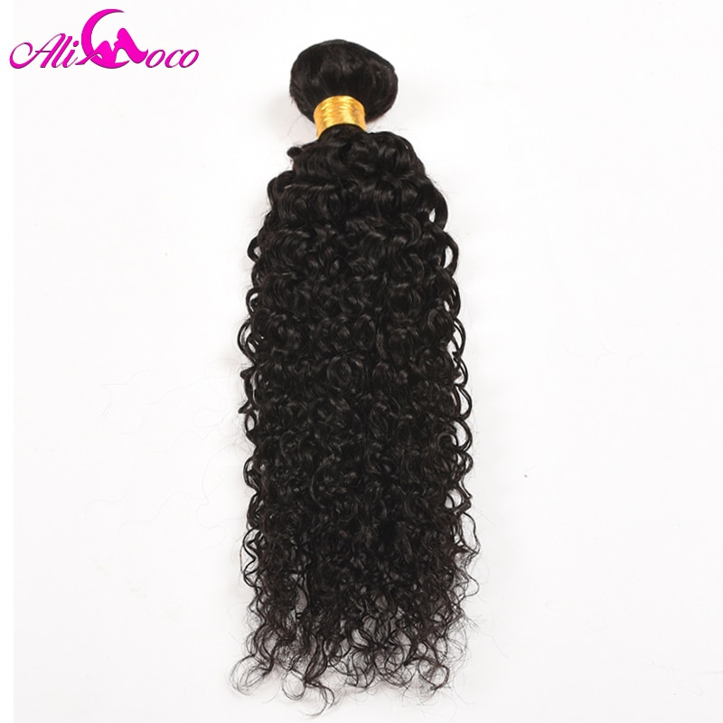Ali Coco pelo peruano paquetes de pelo rizado 1/3/4 Uds 100% mechones de cabello humano postizo Color Natural no Remy extensiones de cabello
