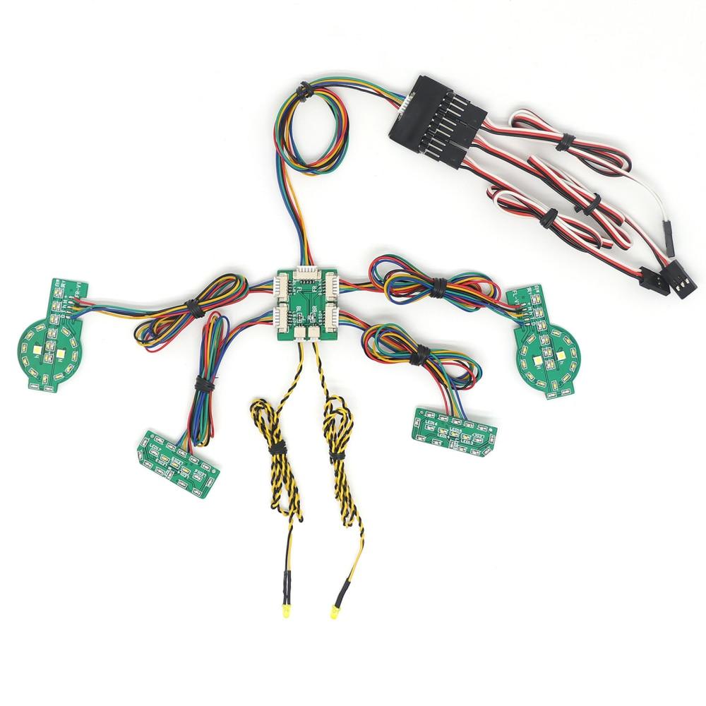 RC سيارة محاكاة أضواء مجموعة ربط أضواء ترقية أجزاء ل T4 فورد برونكو الزاحف سيارة
