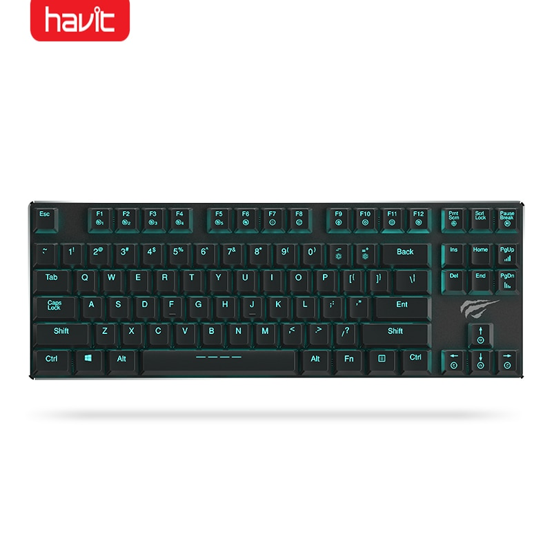 Get Havit Gaming Mechanical Keyboard Backlit Wired Extra-Thin & Light, Kailh Latest Low Profile Red Switches 87 Keys N-Key Rollover