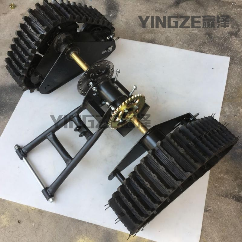 Gehen Kart Kart UTV Buggy Quad 71CM Hinterachse ATV Schnee Sand Tracks Mit Schwinge Gabeln