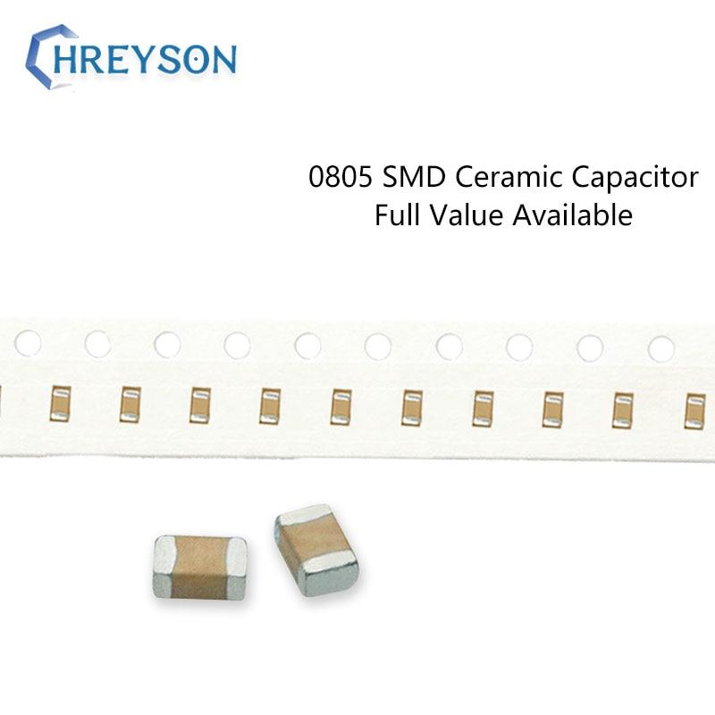 100Pcs 0805 SMD Capacitor componentes Eletrônicos 5% 10% 20% 2012 22pF 27pF 33nF 6.3V 16V 25V 50V 222K 105K Valor Disponível DIY Kit Completo