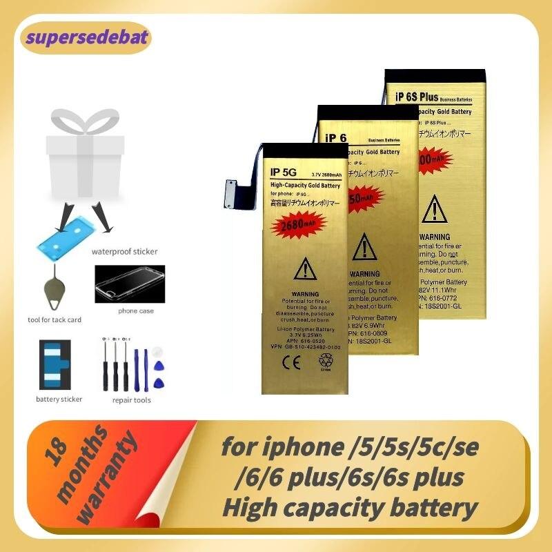 Batería Supersedeba 0 Cycle para Iphone 5 para Iphone 6s Plus batería para Iphone 5 5s 5c Se 6 Plus 6s Plus batería con seguimiento