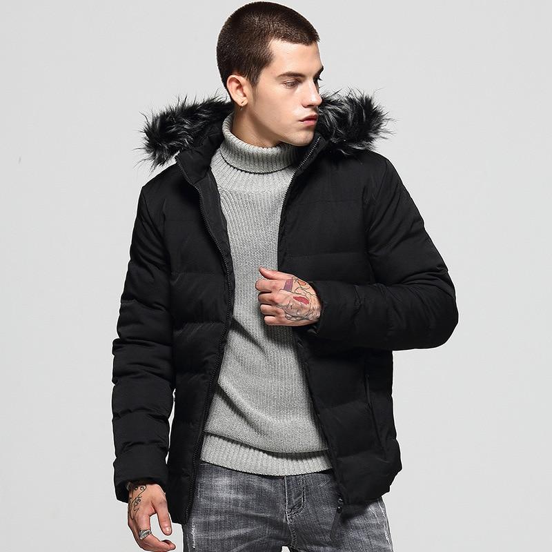 Мужская хлопковая куртка с капюшоном, новая хлопковая куртка, модная универсальная зимняя трендовая мужская куртка
