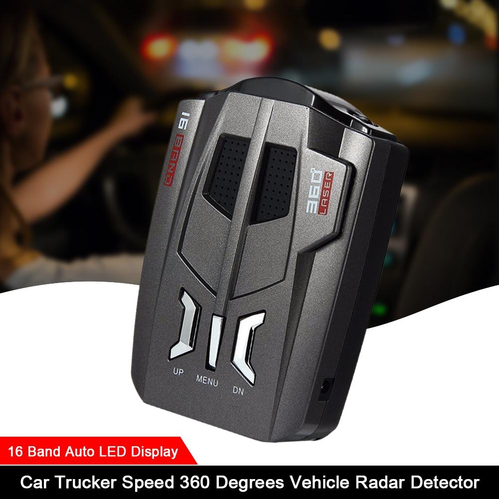 2020 new car radar detector english russian auto 360 degree vehicle v7 speed voice alert alarm warning 16 band led display V9 Automotive Radar Detector Radar Speed Detector Voice Alert Warning 16 Band Auto LED Display English / Russian Version