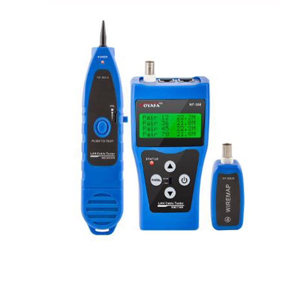Cable de medida de NF-308, Cable de red LAN, Cable de prueba de continuidad, rastreador de cables RJ45 RJ11, probador de cables Ethernet