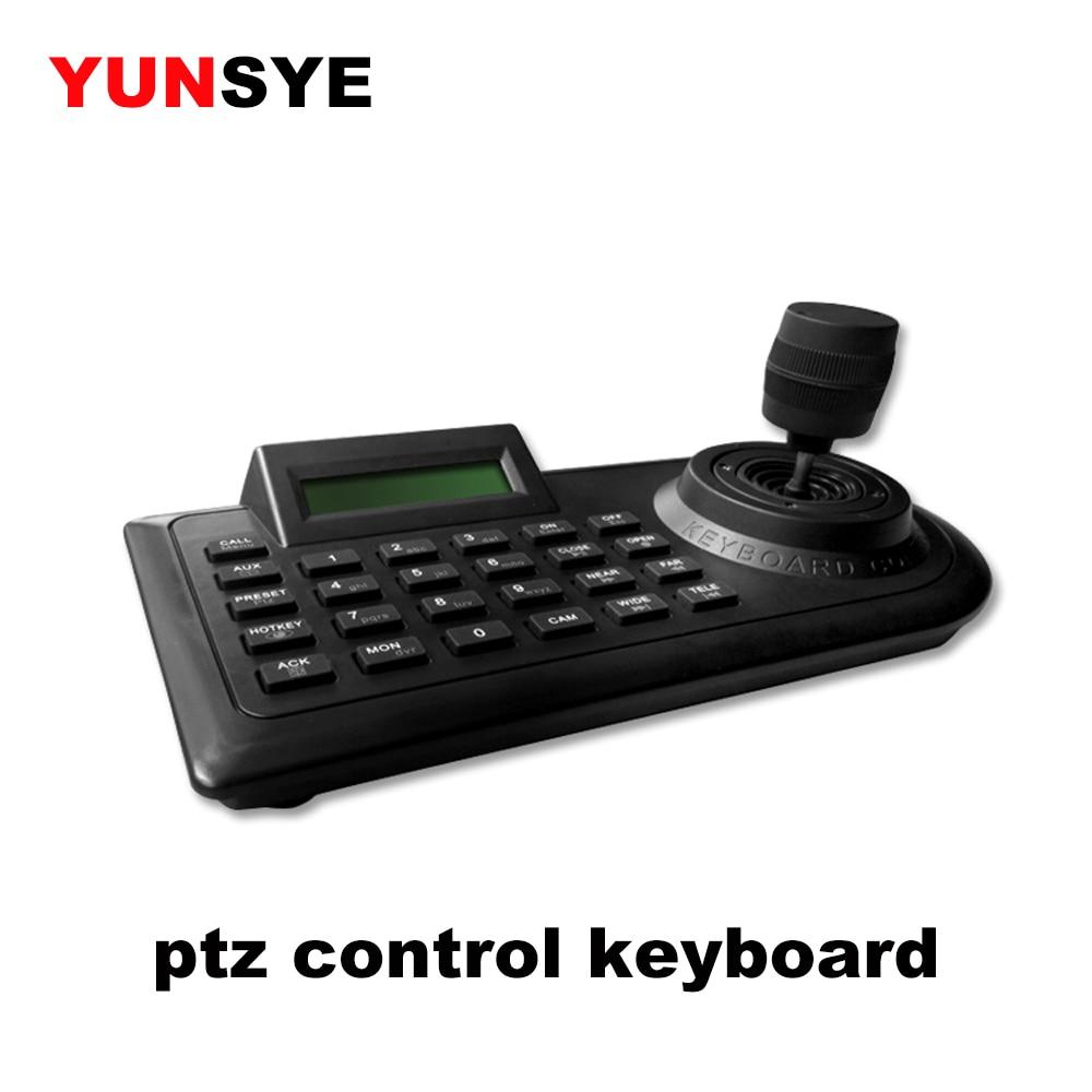 YUNSYE كاميرا التحكم لوحة المفاتيح CCTV وحدة تحكم بلوحة مفاتيح DVR عموم إمالة التكبير دوران PTZ التحكم لوحة المفاتيح Pelco P/D بروتوكول RS485