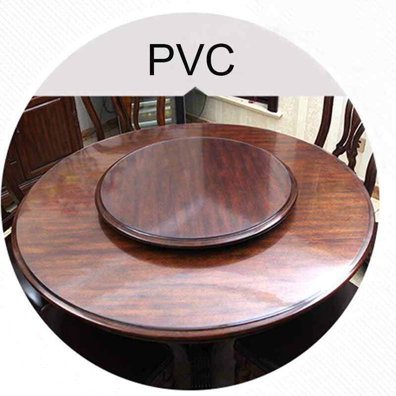 Mantel de Pvc impermeable, mantel redondo, cubierta de mesa, transparente, patrón de cocina, de vidrio suave mantel, alfombra de 1,0mm