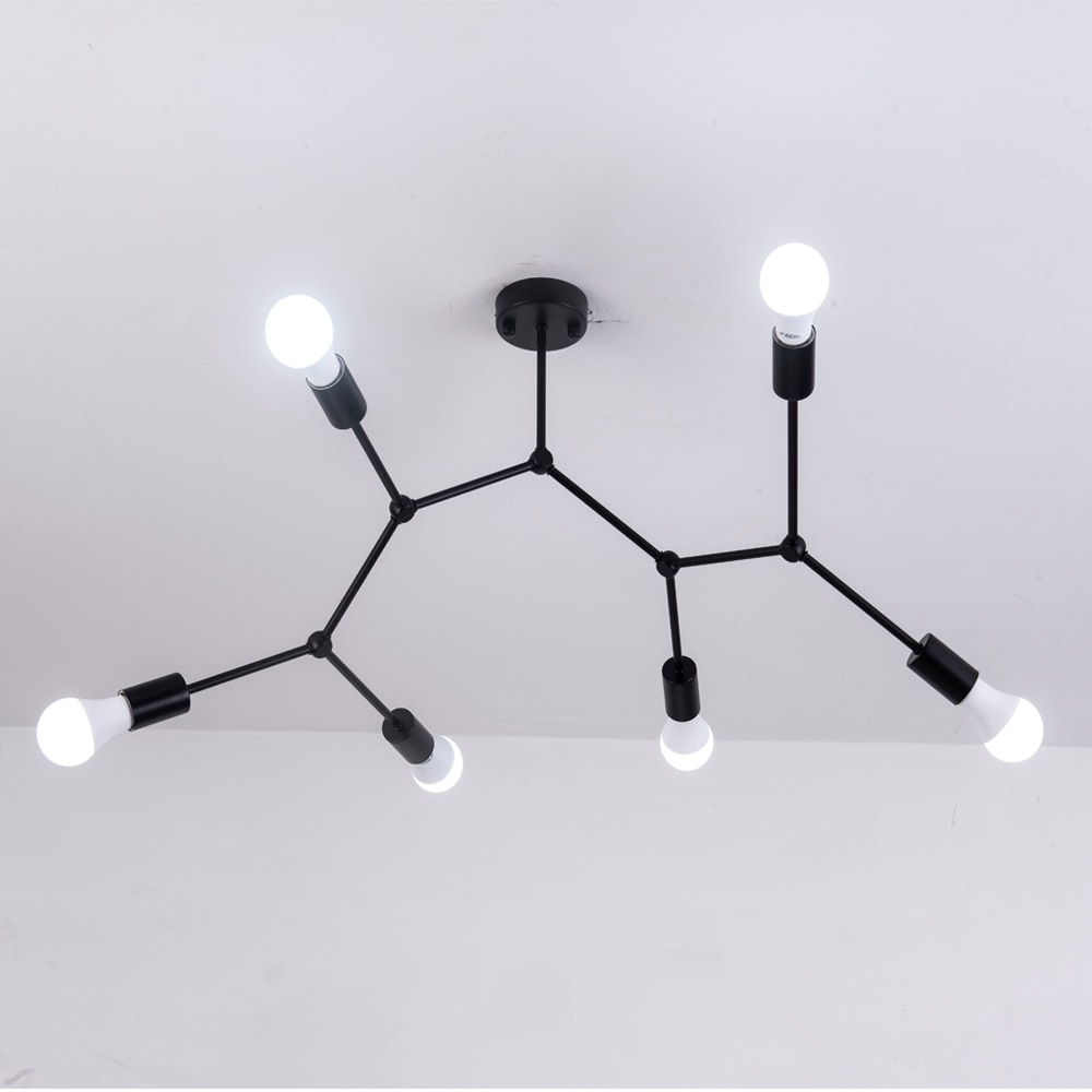 Multi Heads Ceiling Lights Led Lamp Retro Industrial Luminaria Personality Lamparas For Living Room Plafonnier