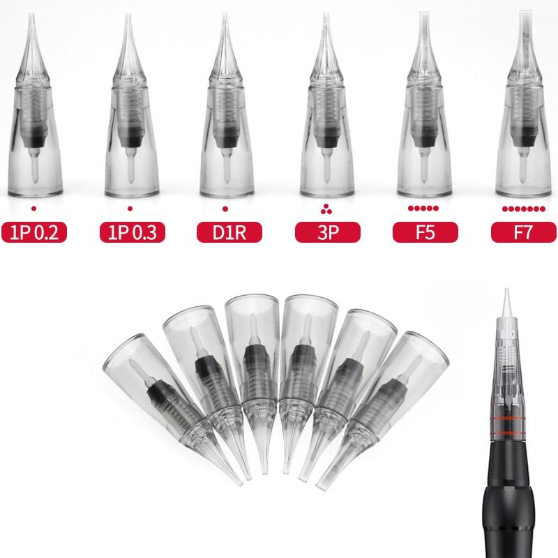 Easy Click Tattoo Needle Permanent Makeup Needles For Tattoo Machine Kit Eyebrow Lip Eyeliner Microblading Needle Tips