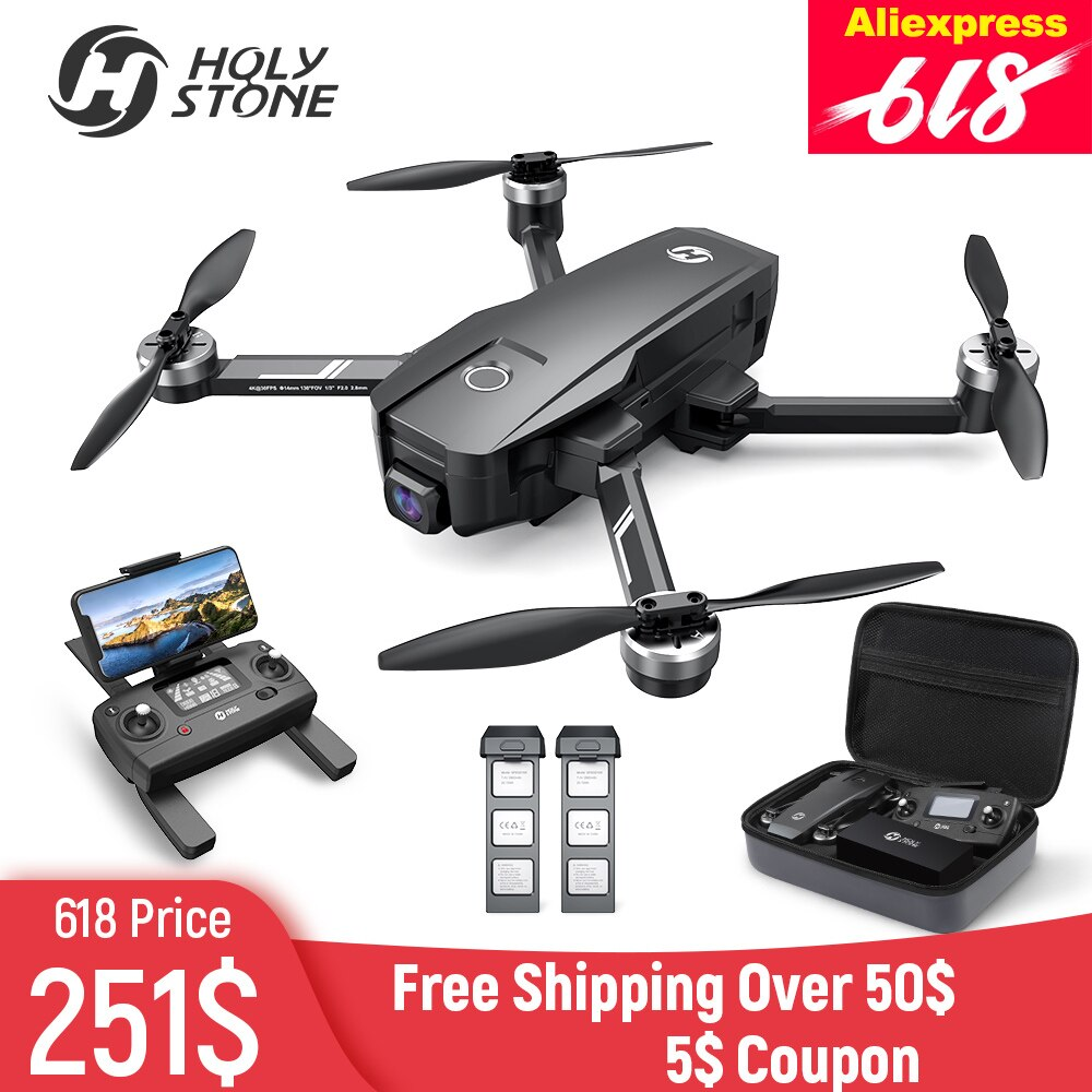 Holy Stone HS720E(HS105) EIS  4K UHD GPS Drone With Electric Image Stabilization GPS 5G FPV Quadcopter With Brushless Motor Case