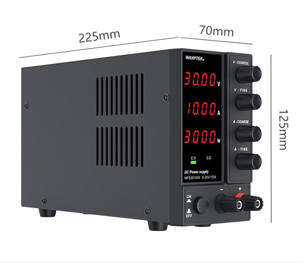 Adjustable 60V 5A DC Power Supply Voltage Regulator Switch LED Lab Bench Source 30v 10a Variable Power Supply NPS3010W