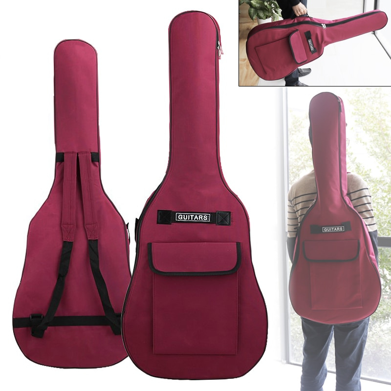 AliExpress - 40/41 Inch Waterproof Oxford Fabric Guitar Case Gig Bag Double Straps Padded Cotton Soft 600D Oxford Fabric Backpack Carry Case