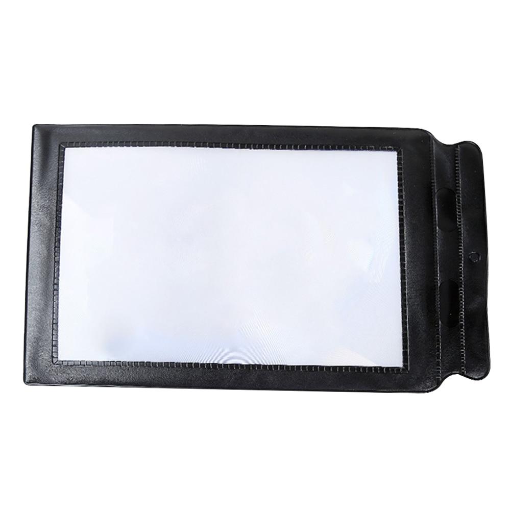 3X A4 Ultra-dünne Hause Fresnel-linse Lesen Lupe Multifunktionale Hängen Loch Low Vision Flexible PVC Große Blatt Volle seite