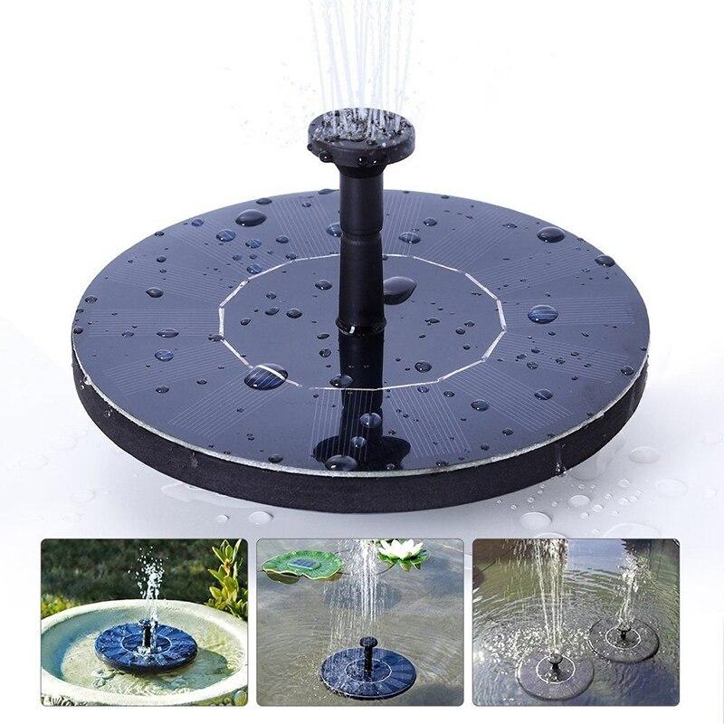 Bomba Solar de fuente de agua para jardín, piscina, estanque, riego, exterior, juego de bombas solares para decoración de jardín, fuente 0