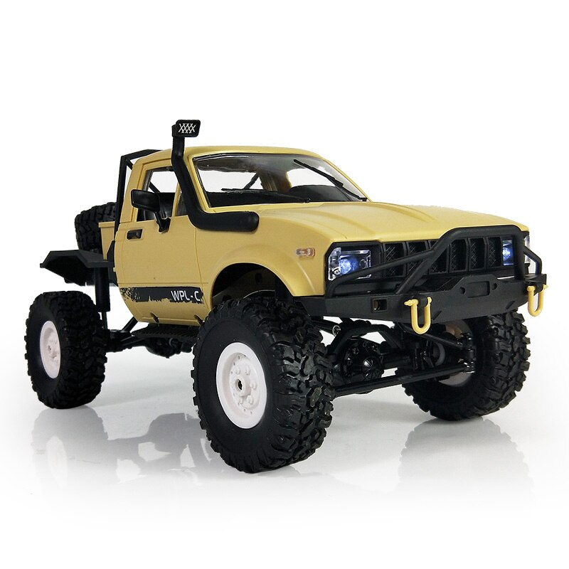 WPL C14 1:16 Radio RC Military Truck 4 Wheels Drive Remote Control Climb Off-Road Metal Vehicle Toys Car enlarge
