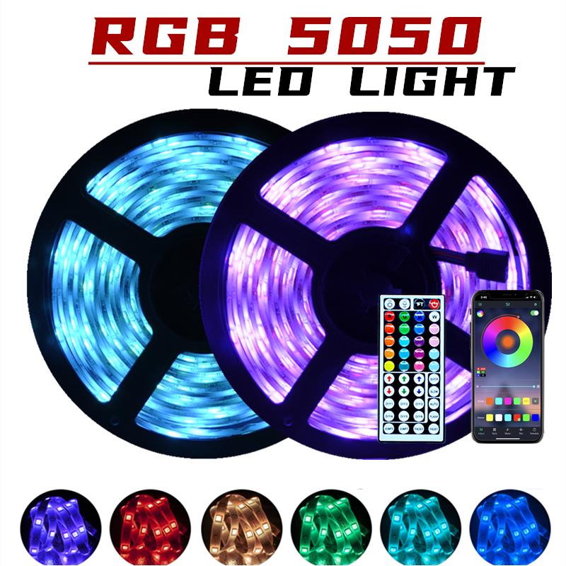 Tiras LED Bluetooth Iuces Led RGB 5050 impermeable lámpara Flexible cinta diodo DC12V 5M 10M WiFi luces LED
