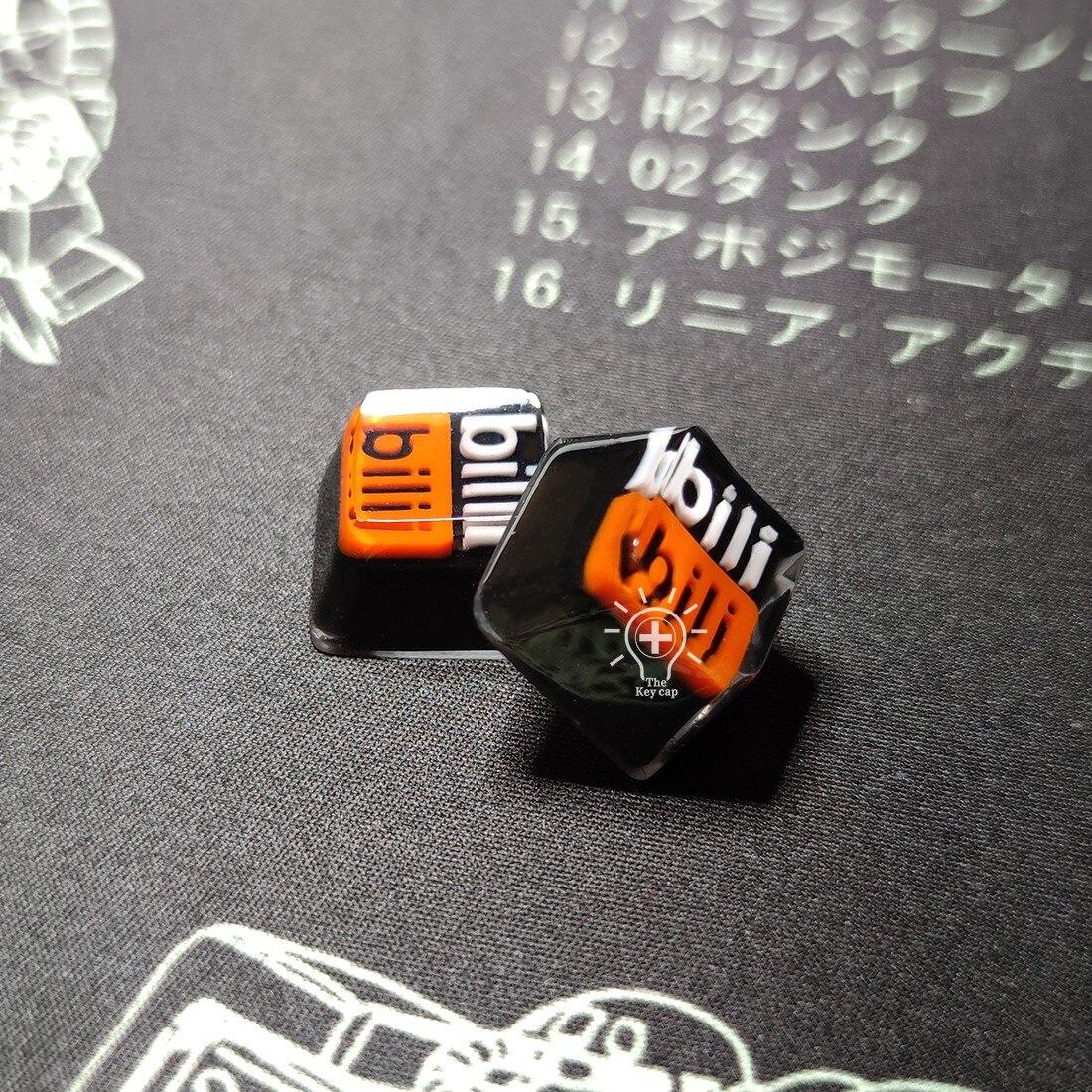 أغطية مفاتيح لوحة المفاتيح الميكانيكية من الراتنج Bilibili أغطية مفاتيح شخصية الكرز أغطية مفاتيح مخصصة هدية لوحة المفاتيح
