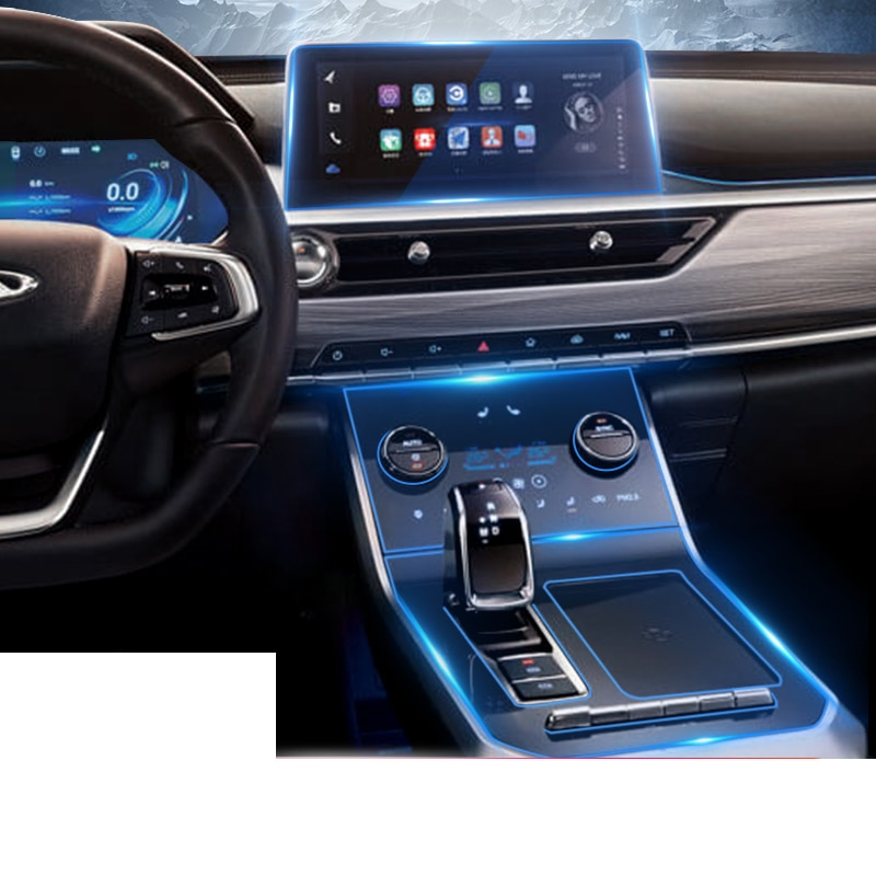 Lsrtw 2017 TPU Car gear dashboard gps navigation screen Film Protective Sticker for chery tiggo 8 20