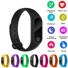 M2 bracelet intelligent bandeau Gezondheid moniteur Stappenteller Sport brassard intelligent Fitness Activiteit pour votre Mannen Vrouwen Kinde