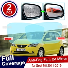 for Seat Mii e-Mii 2011~2019 Full Cover Anti Fog Film Rearview Mirror Rainproof Anti-Fog Films Clean Car Accessories 2017 2018