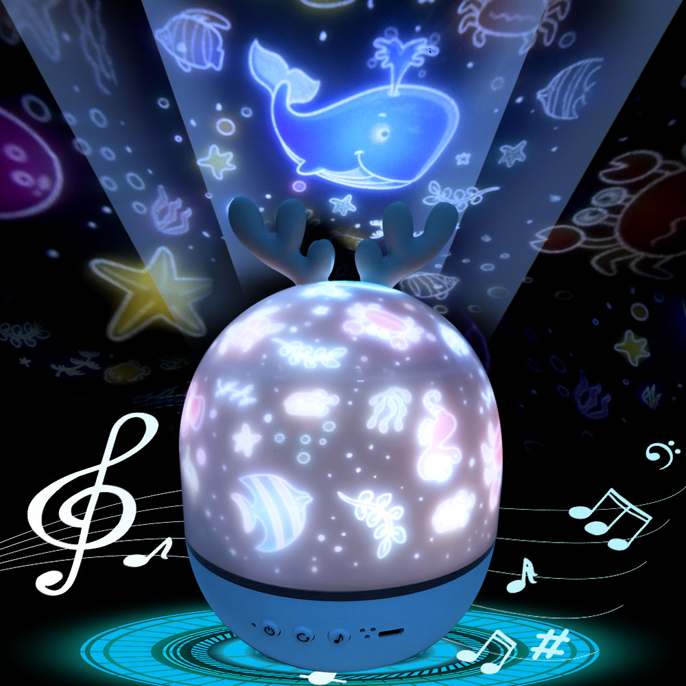 Ночник проектор Звездное небо Ночной Светильник проектор Спальня Декор Bluetooth вращающаяся музыка Детский Светильник подарок для детей