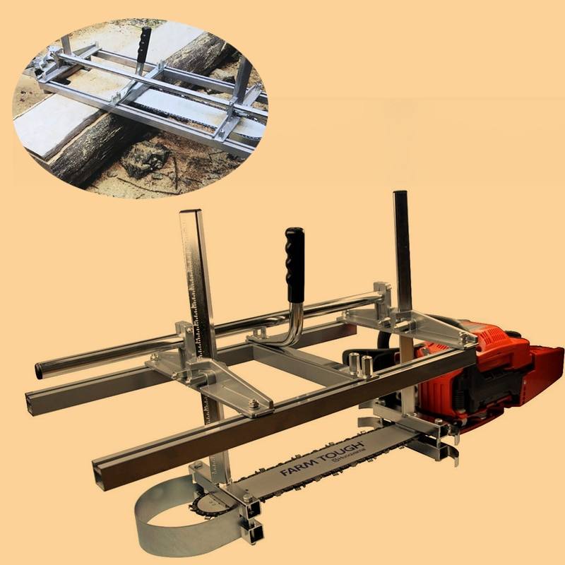 24 36 48 Inch Chainsaw Mill Planking Milling Kit Wood Guide Bar Lumber  Aluminum Steel Cutting Portable Sawmill Chain Saw Tools