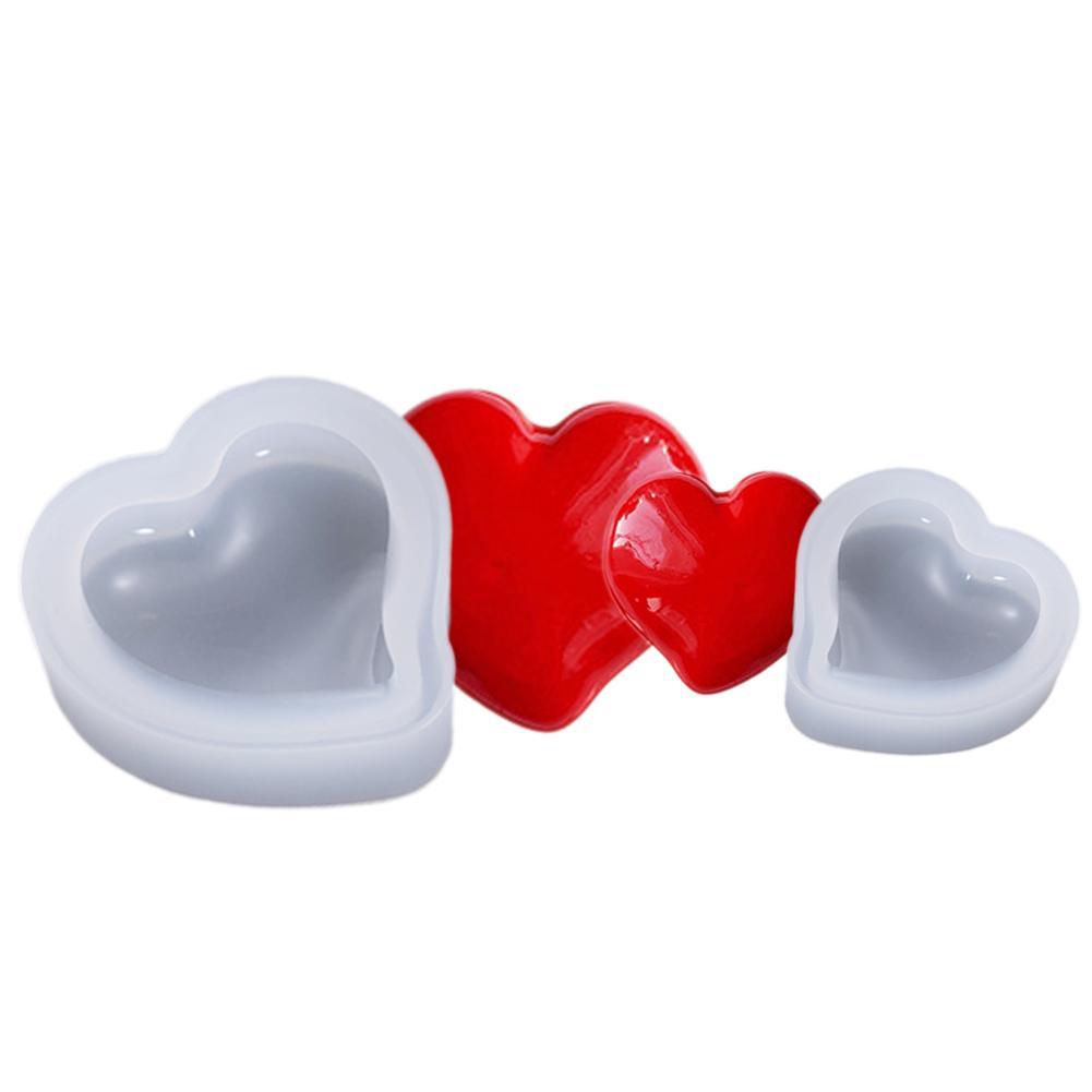 Molde de corazón DIY anillo de cristal joyería de pastel de silicona molde de pastel de galleta máquina de hornear herramienta de cocina accesorios del horno