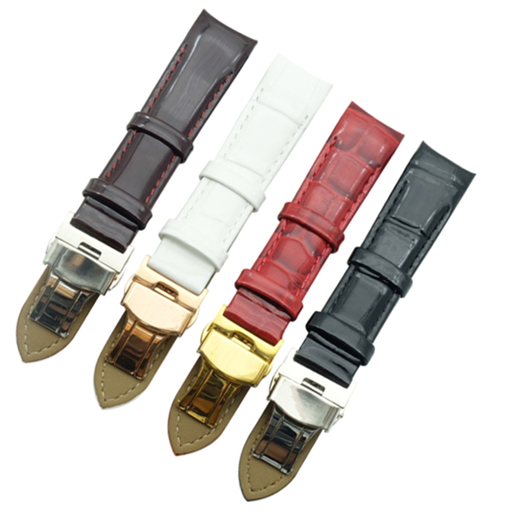 Echtes Leder Uhr Bands Strap Und Klapp Schließe 18mm Für Tissot T035210A T035207 Frauen Uhr Armband DIY Ersetzen