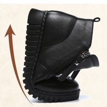 Elderly Snow Boots Women Winter Warm Ankle Boots Female Soft Comfortable Non-Slip Plush Flats Woman Footwear Waterproof Mom Shoe