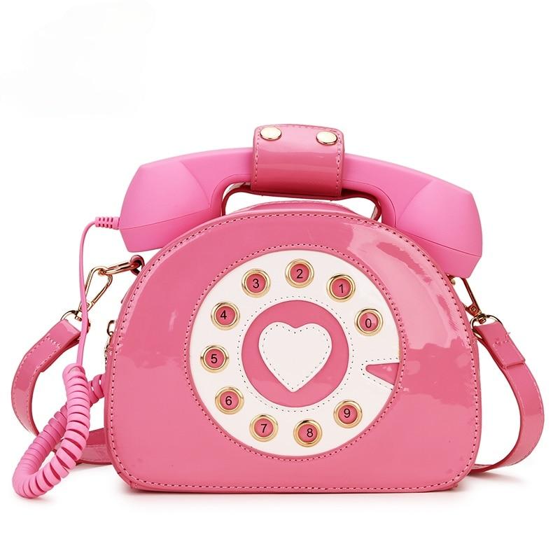 Borsette da donna forma di telefono borsa a tracolla un spalla rosa...