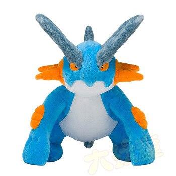 Takara Tomy Plush Doll Pokemon Swampert Mega Soft Toy Animal PP Cotton Stuffed 30cm