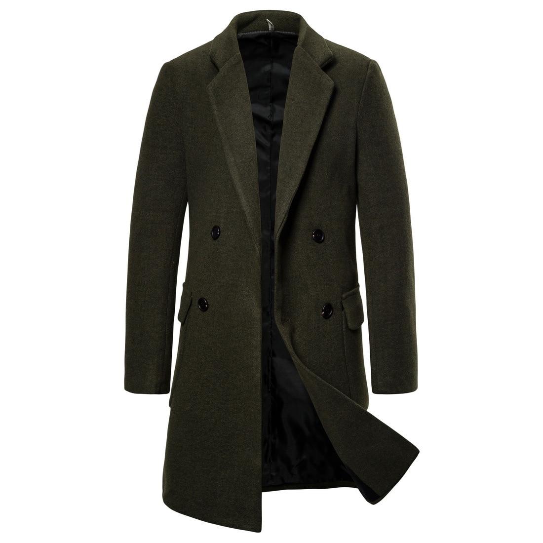 Осенне-зимнее новое импортное мужское двубортное пальто, пальто, Тренч