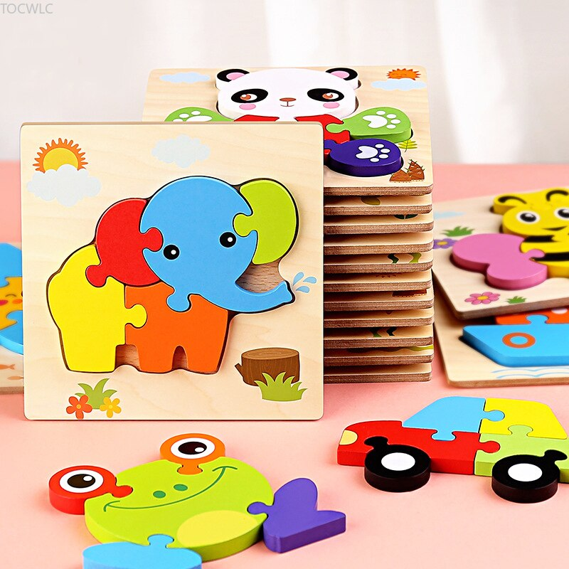 logwood baby wooden toys wooden block 26pcs learning educational toys for children animal words letter learn gifts for baby Baby Toys Wooden 3d Puzzle Tangram Shapes Learning Cartoon Animal Intelligence Jigsaw Puzzle Toys for Children Educational Gifts